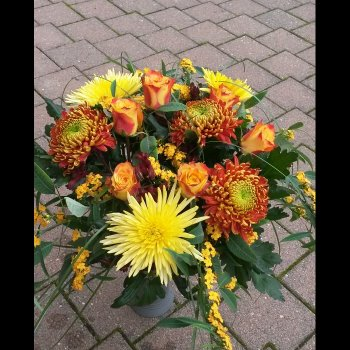 Herbststrauss mit Chrysanthemen