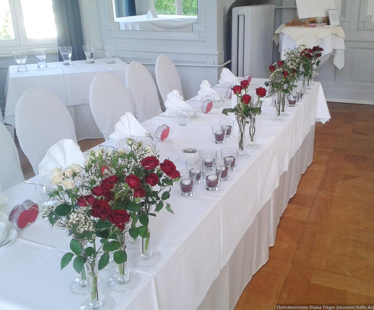 Tischdekoration Floristmeisterin Diana Troger